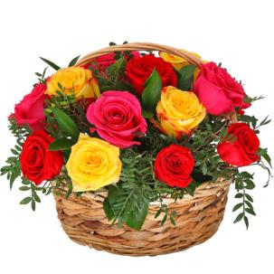 """Цветы в корзинке """"Микс"""""""