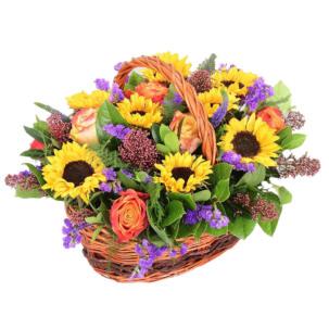 """Цветы в корзинке """"Прикосновение солнца"""""""
